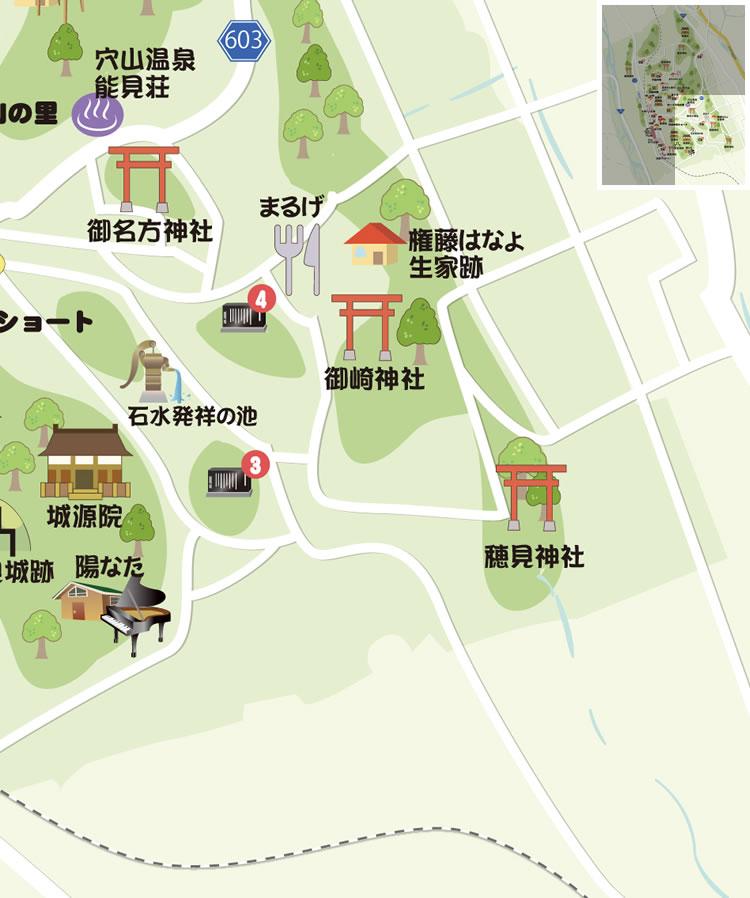 穴山ふれあいマップ 詳細画像 周辺地図